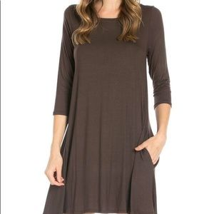 Tunic top dress w/side pockets